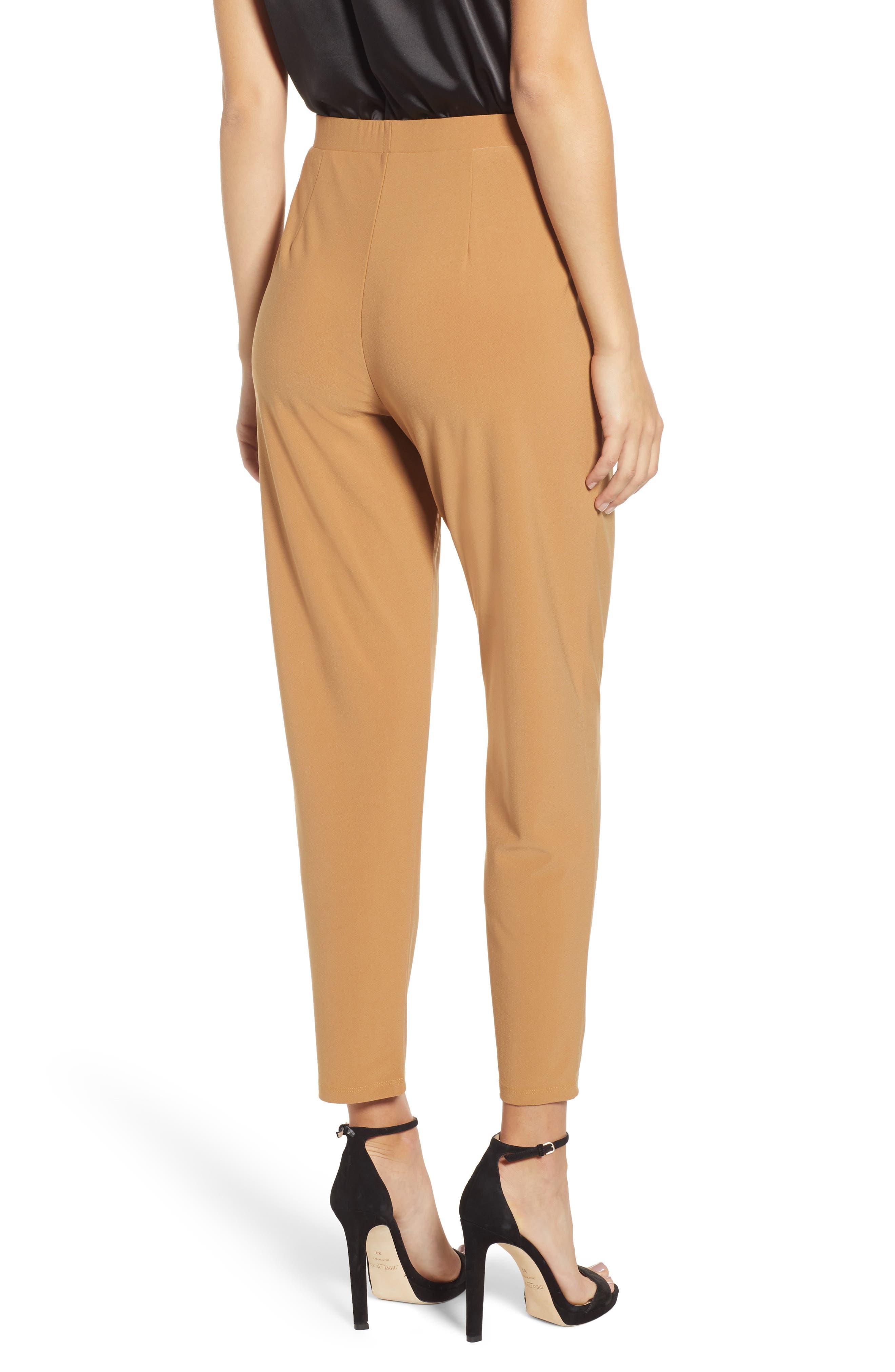 ,                             Pleat Front Trousers,                             Alternate thumbnail 2, color,                             TAN DALE