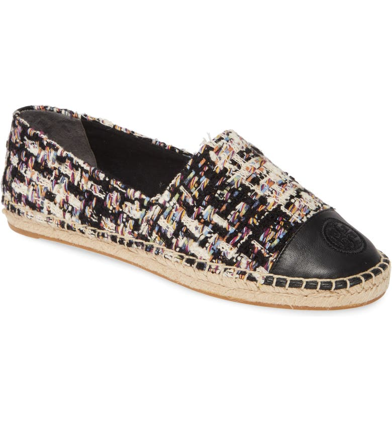 TORY BURCH Espadrille Flat, Main, color, 001