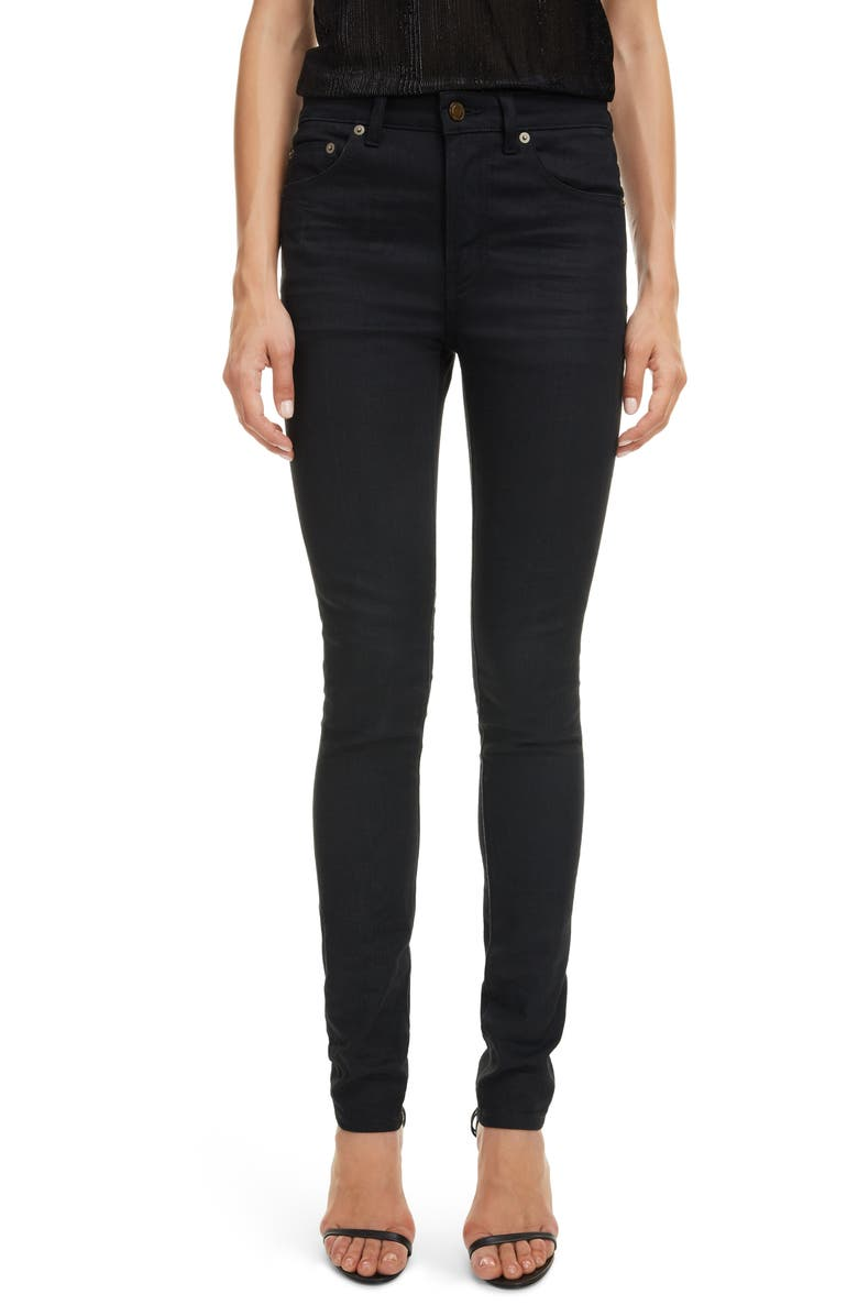 SAINT LAURENT Skinny Jeans, Main, color, USED BLACK