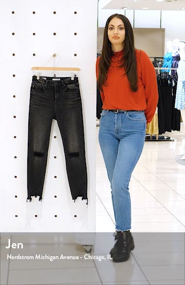 Ace Ripped High Waist Crop Skinny Jeans, sales video thumbnail