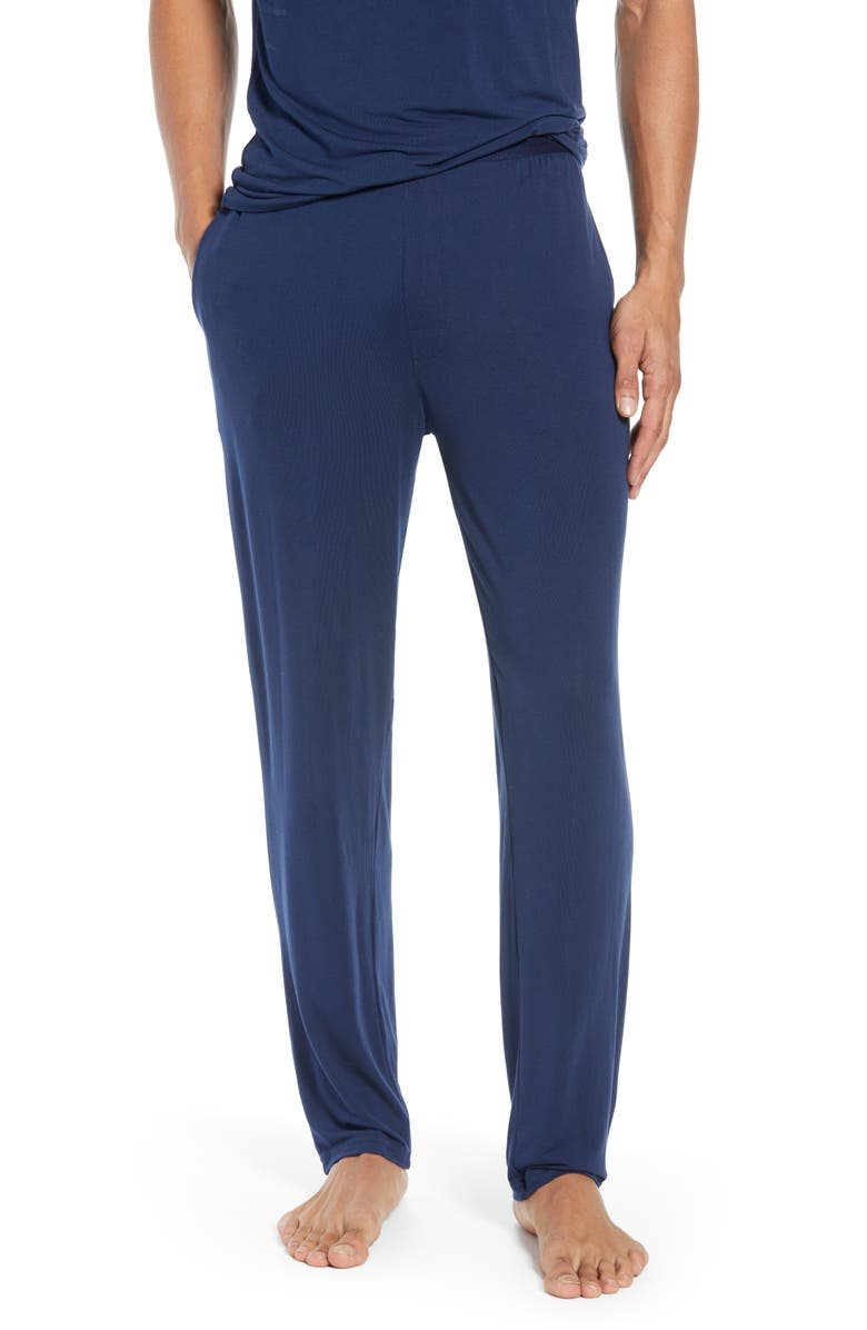 CALVIN KLEIN Stretch Modal Lounge Pants, Main, color, BLUE SHADOW