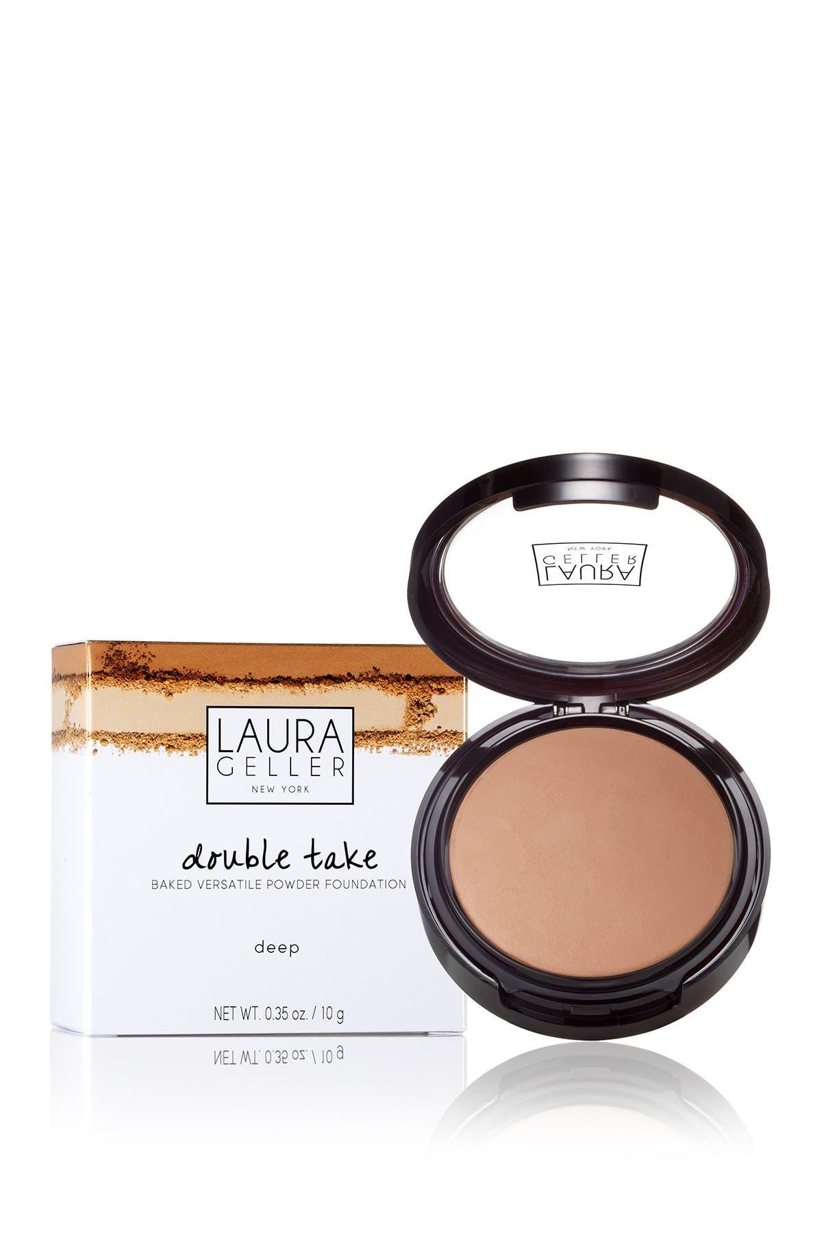 Image of Laura Geller New York 59mm Double Take Baked Versatile Powder Foundation - Deep