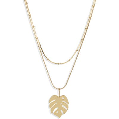 Madewell Palm Leaf Pendant Necklace
