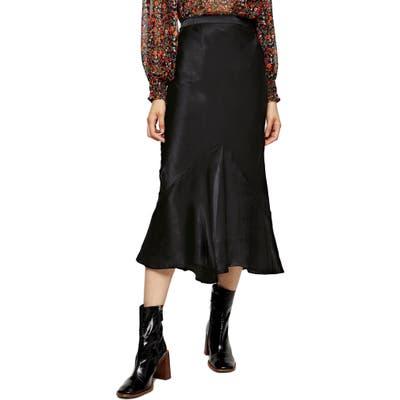 Topshop Flounce Midi Skirt