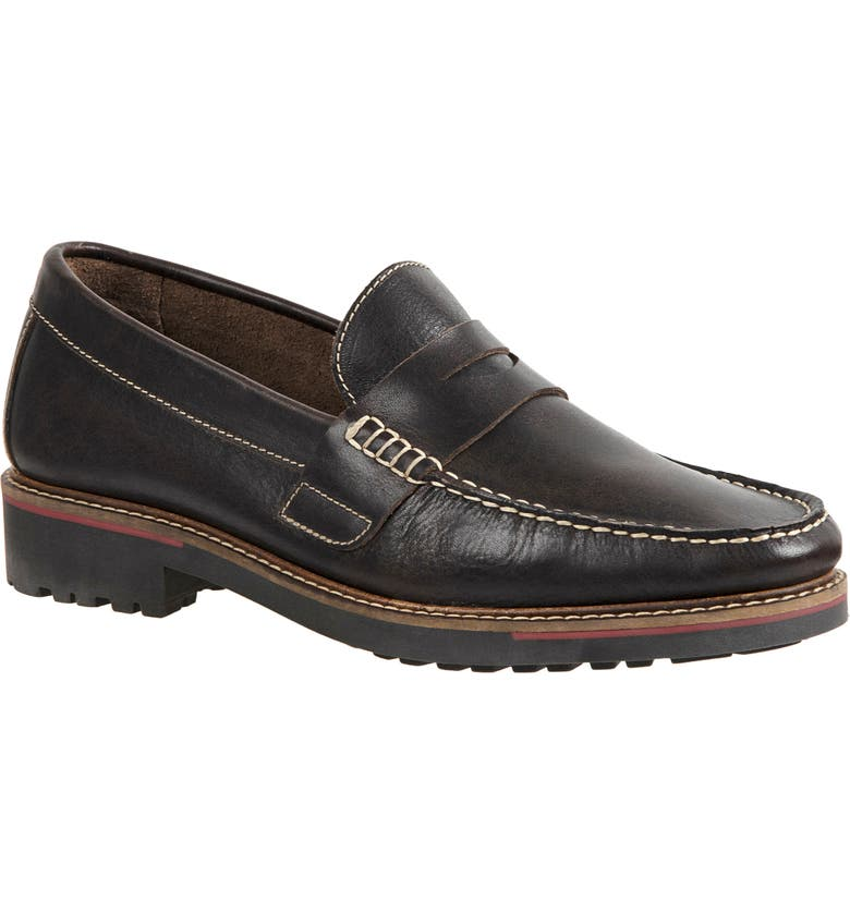 SANDRO MOSCOLONI Roland Penny Loafer, Main, color, BROWN