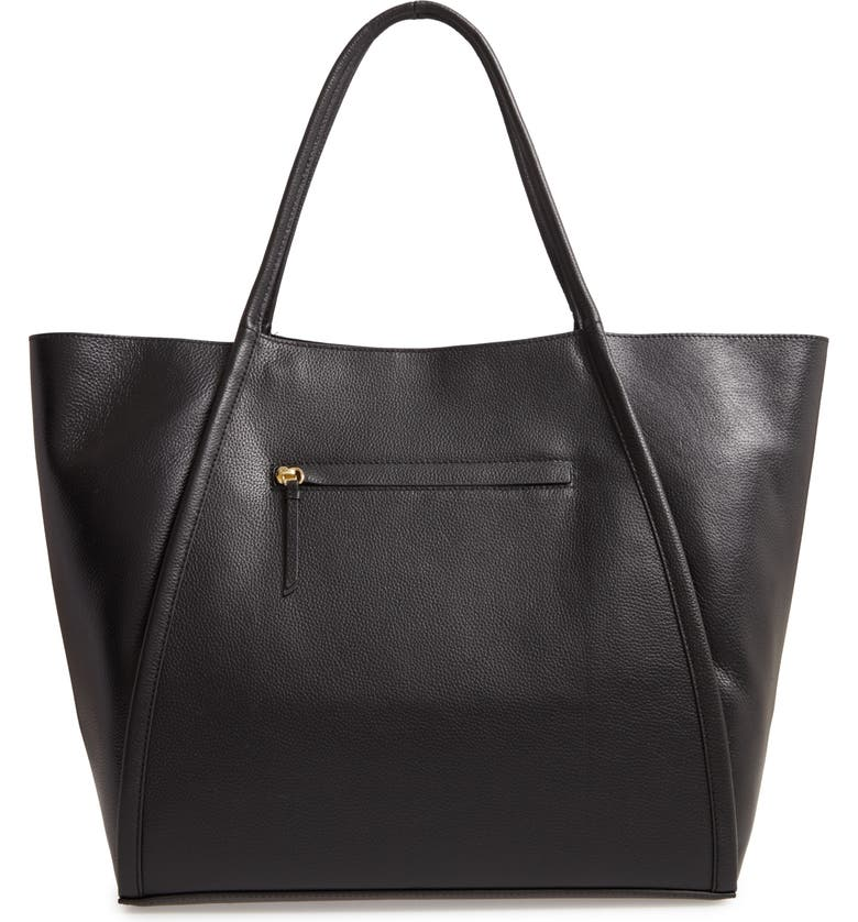 NORDSTROM Oversize Leather Tote, Main, color, 001