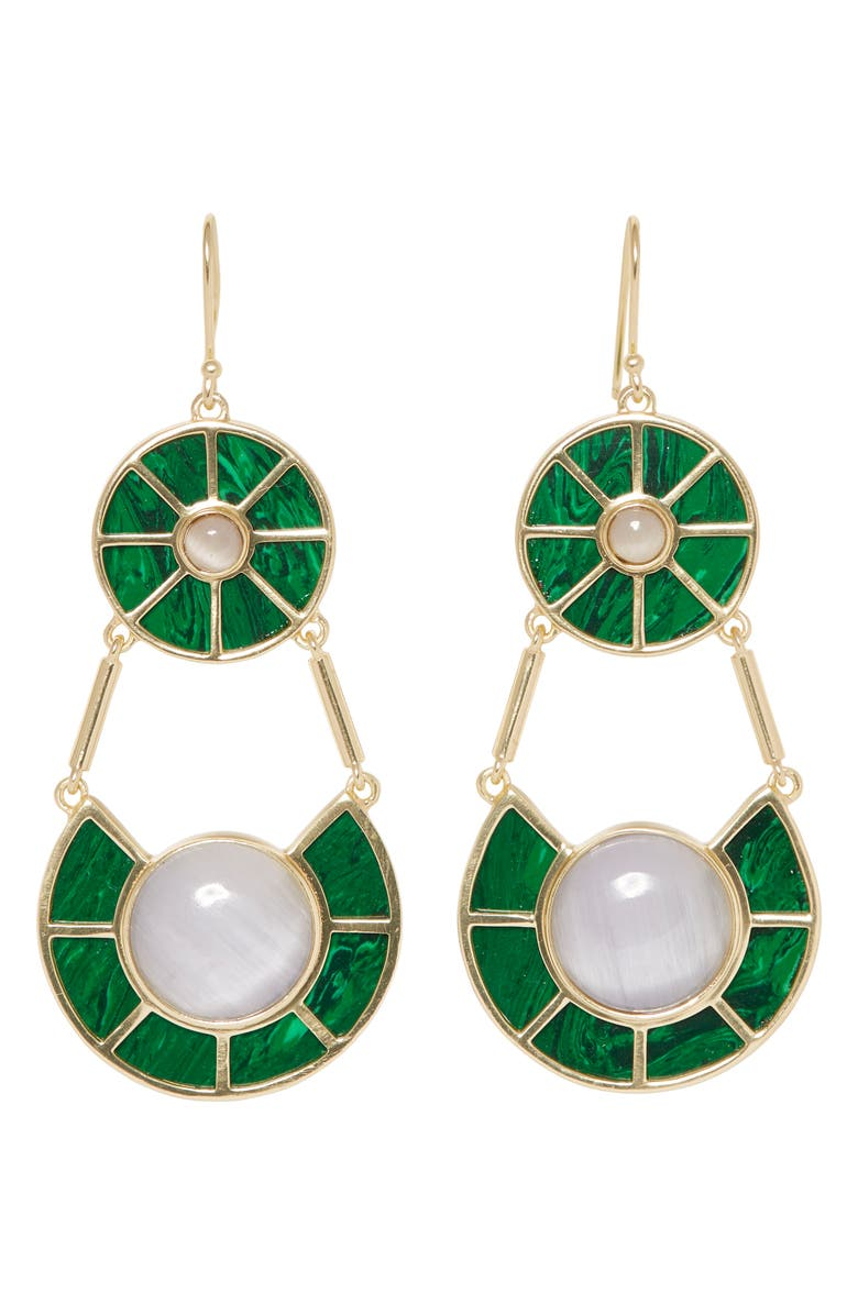 SOLE SOCIETY Statement Double Drop Earrings, Main, color, 710