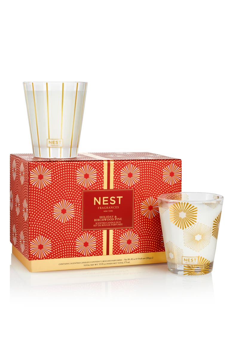 NEST FRAGRANCES Holiday & Birchwood Pine Classic Candle Duo, Main, color, NO COLOR