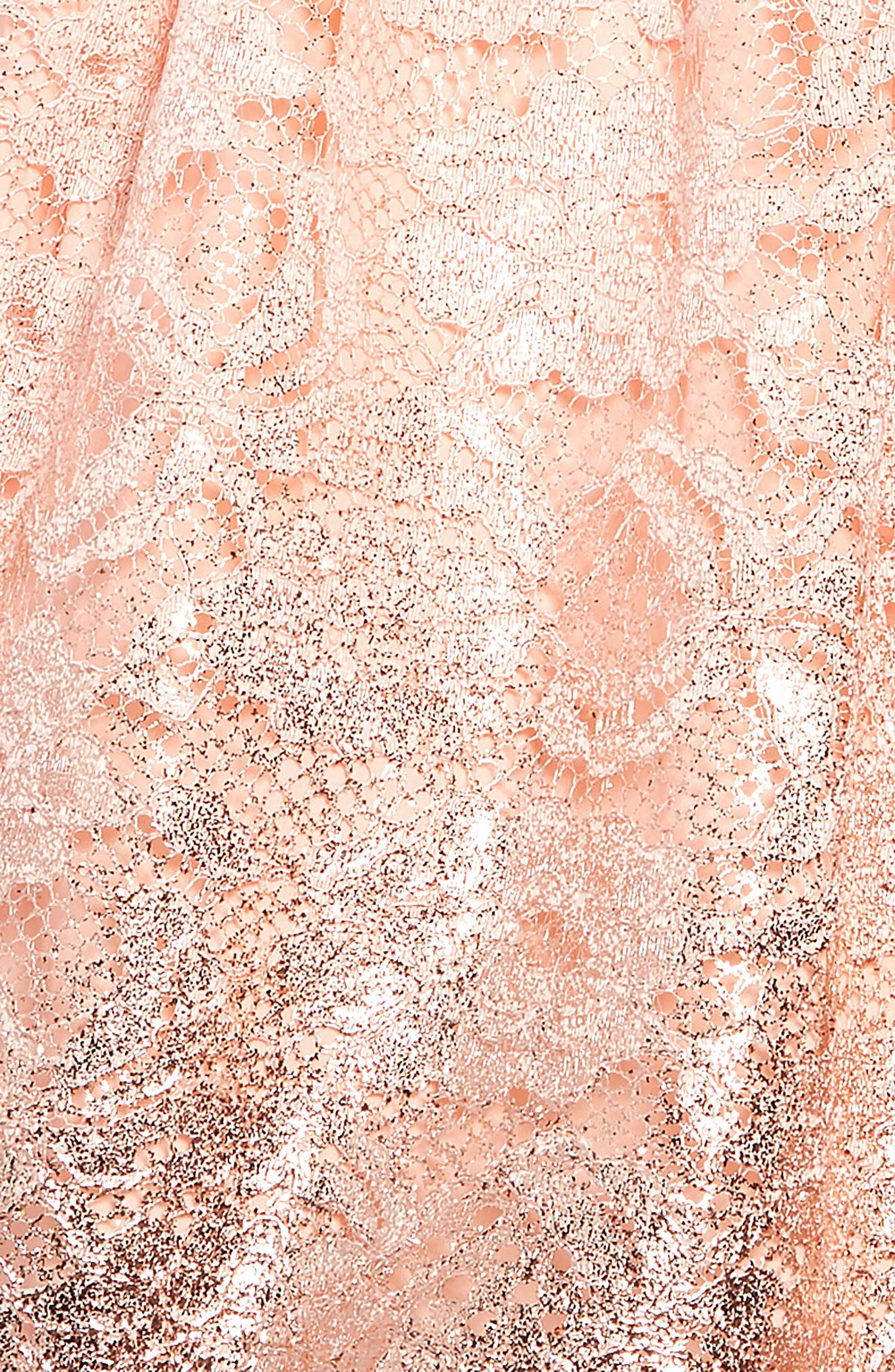 ,                             Foiled Lace Dress,                             Alternate thumbnail 3, color,                             BLUSH