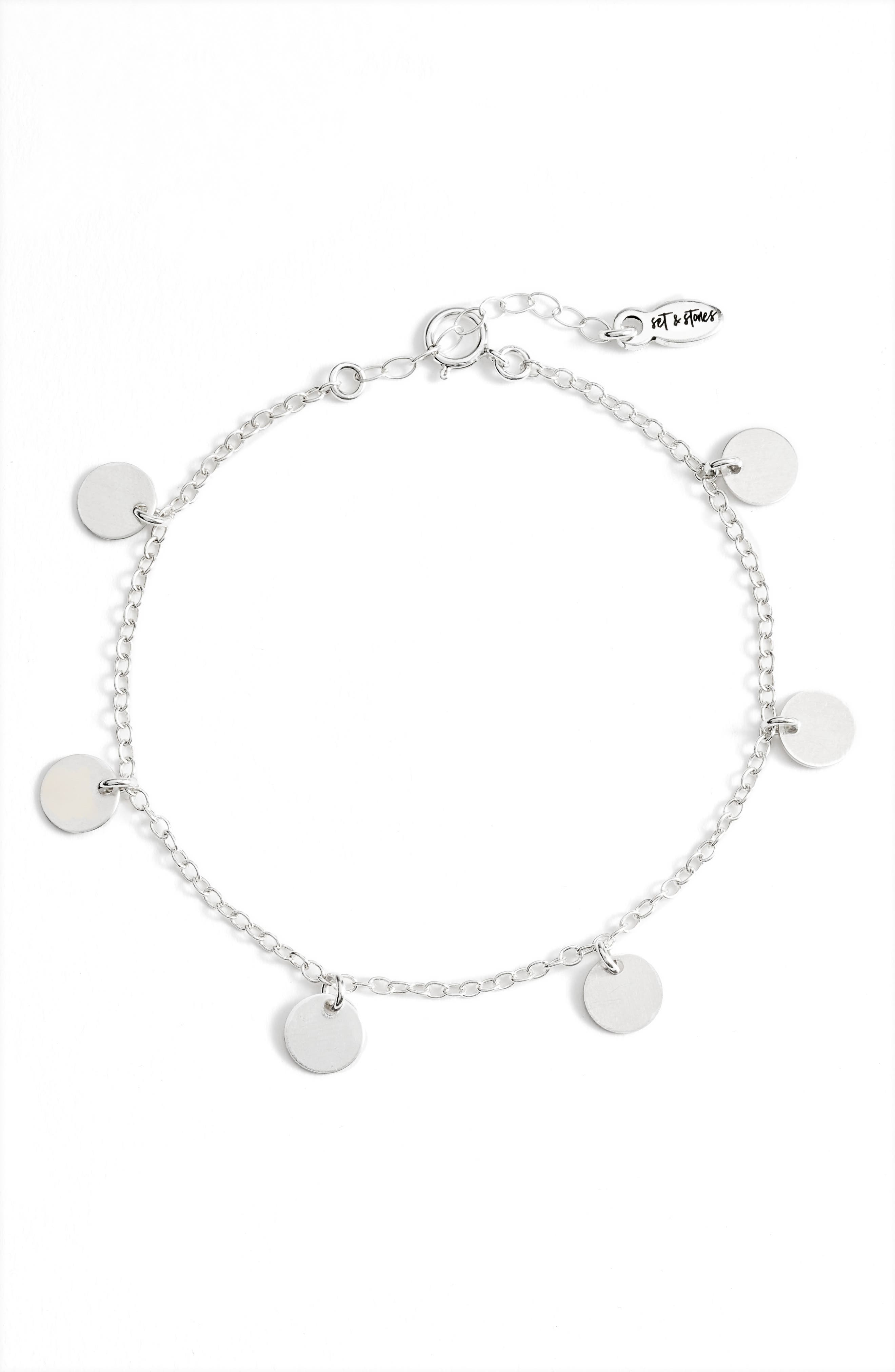 A delicate chain is accented with gleaming disc charms on this handmade bracelet that will be your everyday fave. Style Name: Set & Stone Quinn Disc Bracelet. Style Number: 6057558. Available in stores.