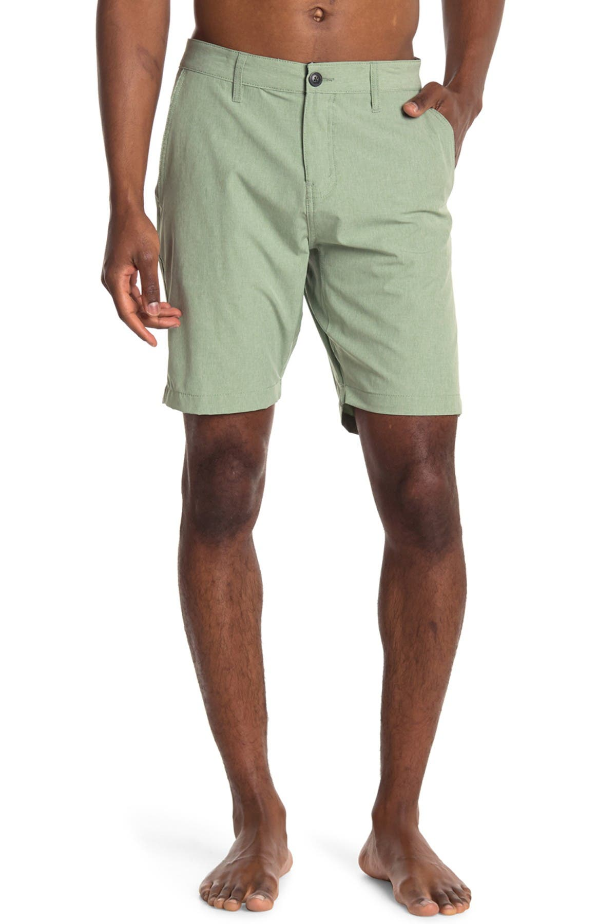 Image of Vintage 1946 Land Sea Heathered Hybrid Shorts