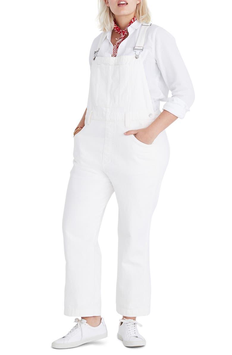 MADEWELL Straight Leg Overalls, Main, color, 100