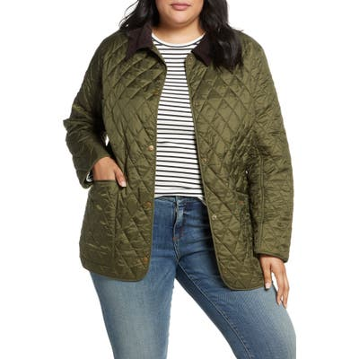 Plus Size Barbour Annandale Water Resistant Quilted Utility Jacket