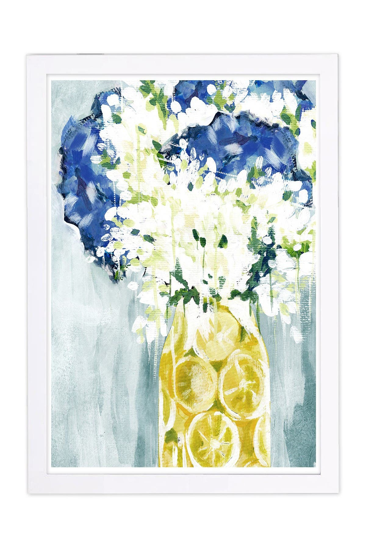 Image of Wynwood Studio Lovely Limoncello Blue Framed Wall Art