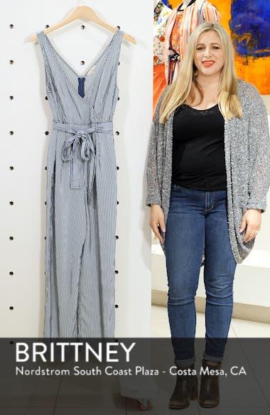 Julienne Stripe Belted Jumpsuit, sales video thumbnail