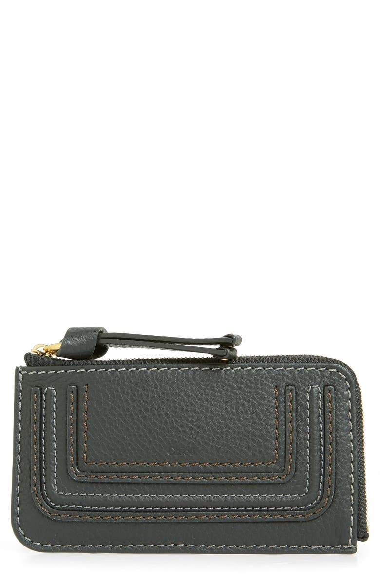 80de6212 Chloé Medium Marcie Leather Zip Card Holder | Nordstrom