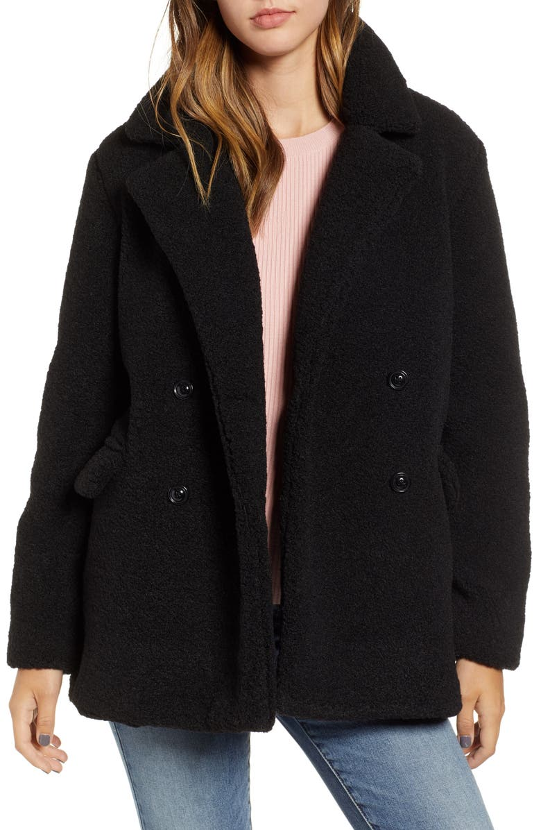 BP. Textured Double Breasted Coat, Main, color, 001
