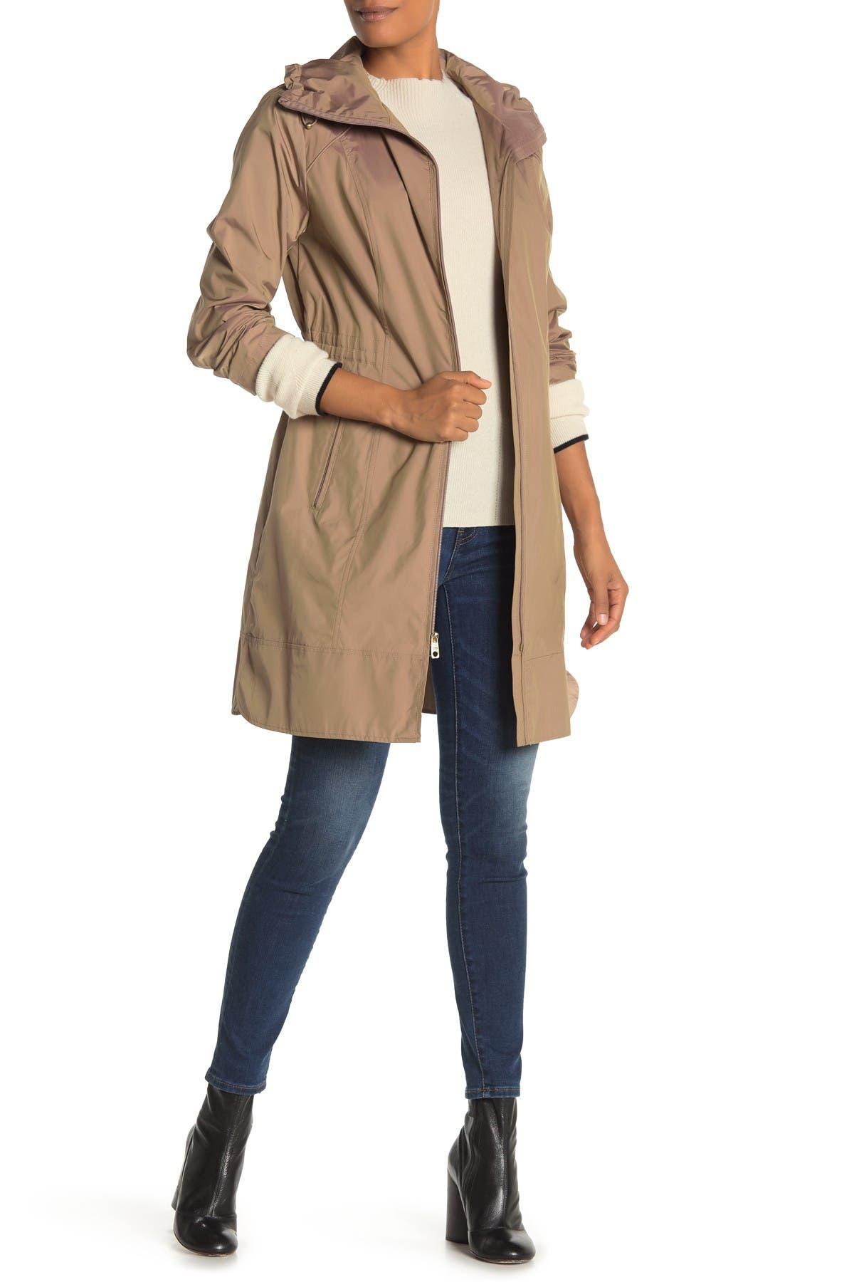 Image of Cole Haan Packable Hooded Rain Coat