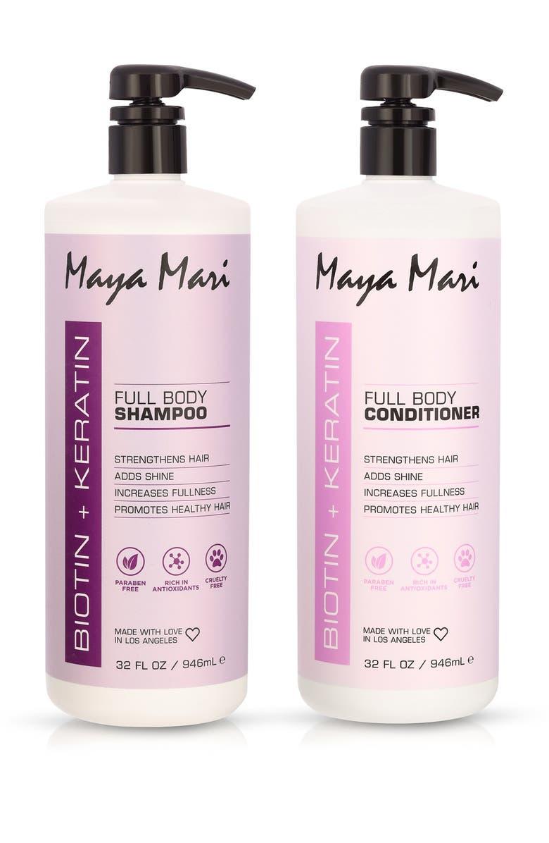 MAYA MARI Biotin + Keratin Shampoo & Conditioner 2 Pack Set - 32oz each, Main, color, NO COLOR