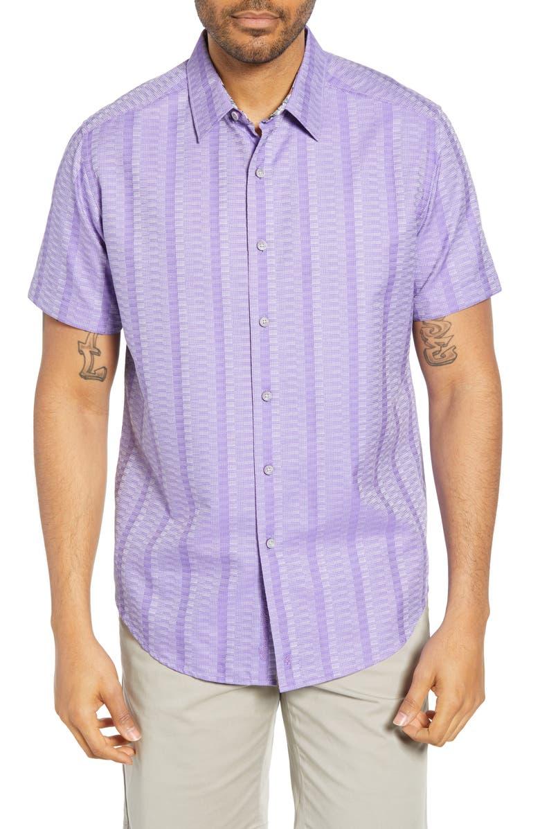 ROBERT GRAHAM Classic Fit Dyson Cotton Shirt, Main, color, PURPLE