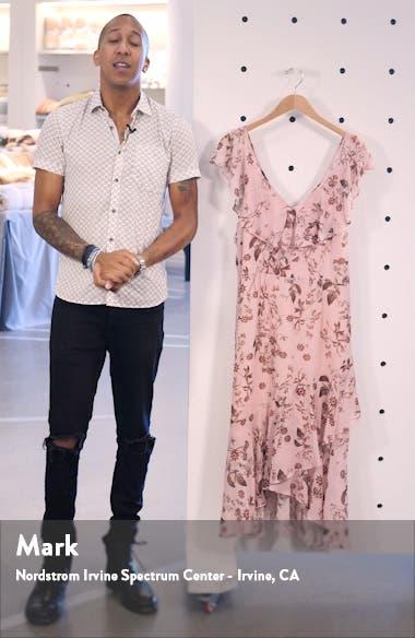 Isla Floral Ruffle High/Low Dress, sales video thumbnail