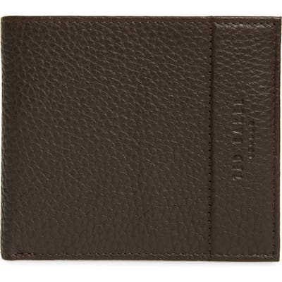Ted Baker London Carabas Coin Pocket Leather Bifold Wallet - Brown