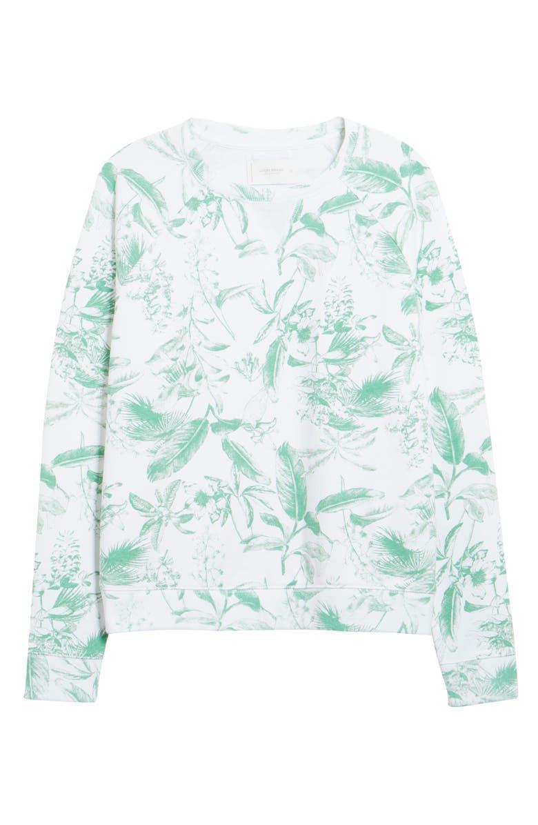 LUCKY BRAND Botanical Print Sweatshirt, Main, color, 340