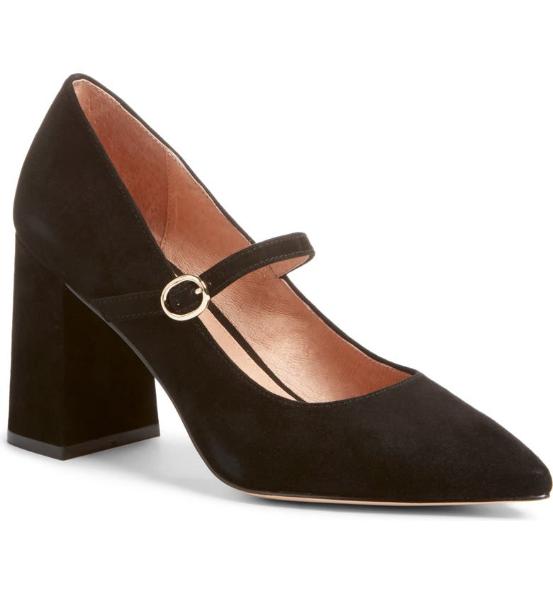 HALOGEN<SUP>®</SUP> x Atlantic-Pacific Helenah Mary Jane Pump, Main, color, BLACK SUEDE