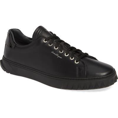 Salvatore Ferragamo Cube Sneaker- Black
