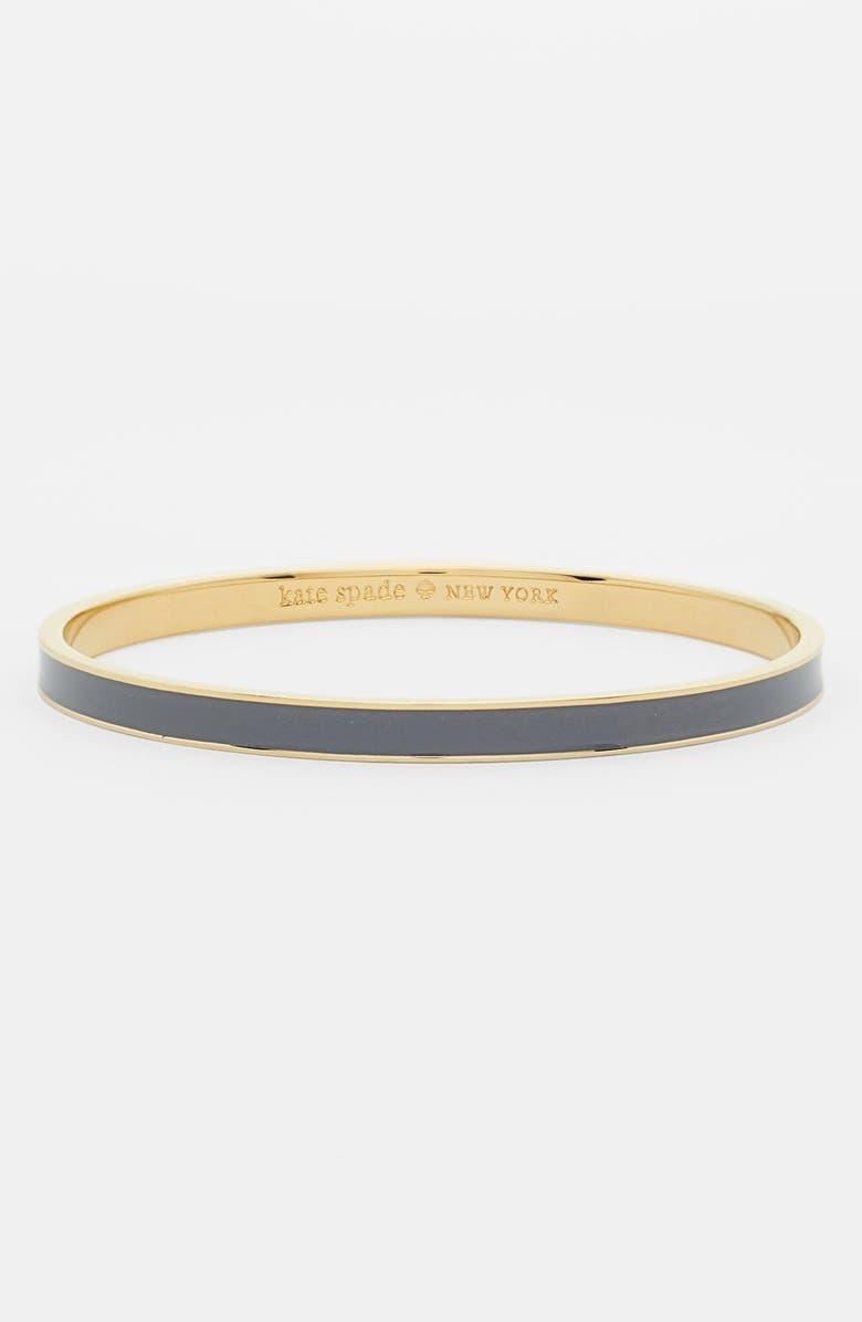 KATE SPADE NEW YORK 'idiom - hot to trot' ultra thin enamel bangle, Main, color, 020