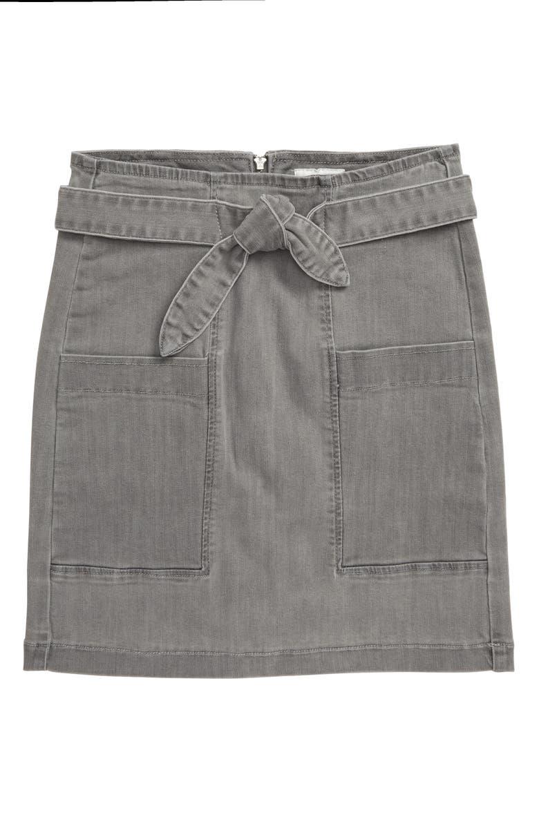 HUDSON JEANS Hudson Kids Josette Denim Skirt, Main, color, BCE-BLEACH CONCRETE
