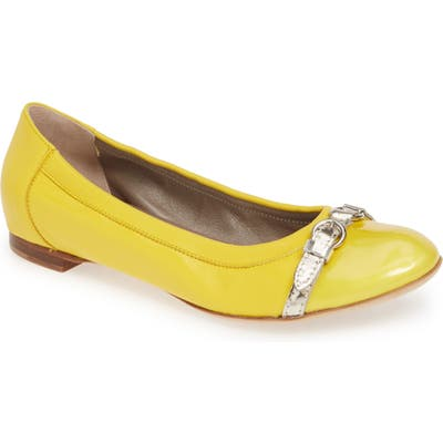 Agl Cap Toe Ballet Flat, Yellow