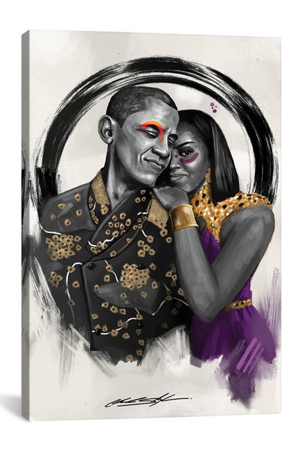 Image of iCanvas The Obamas by Chuck Styles