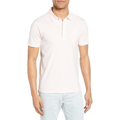Billy Reid Pensacola Slim Fit Garment Dye Polo, Pink