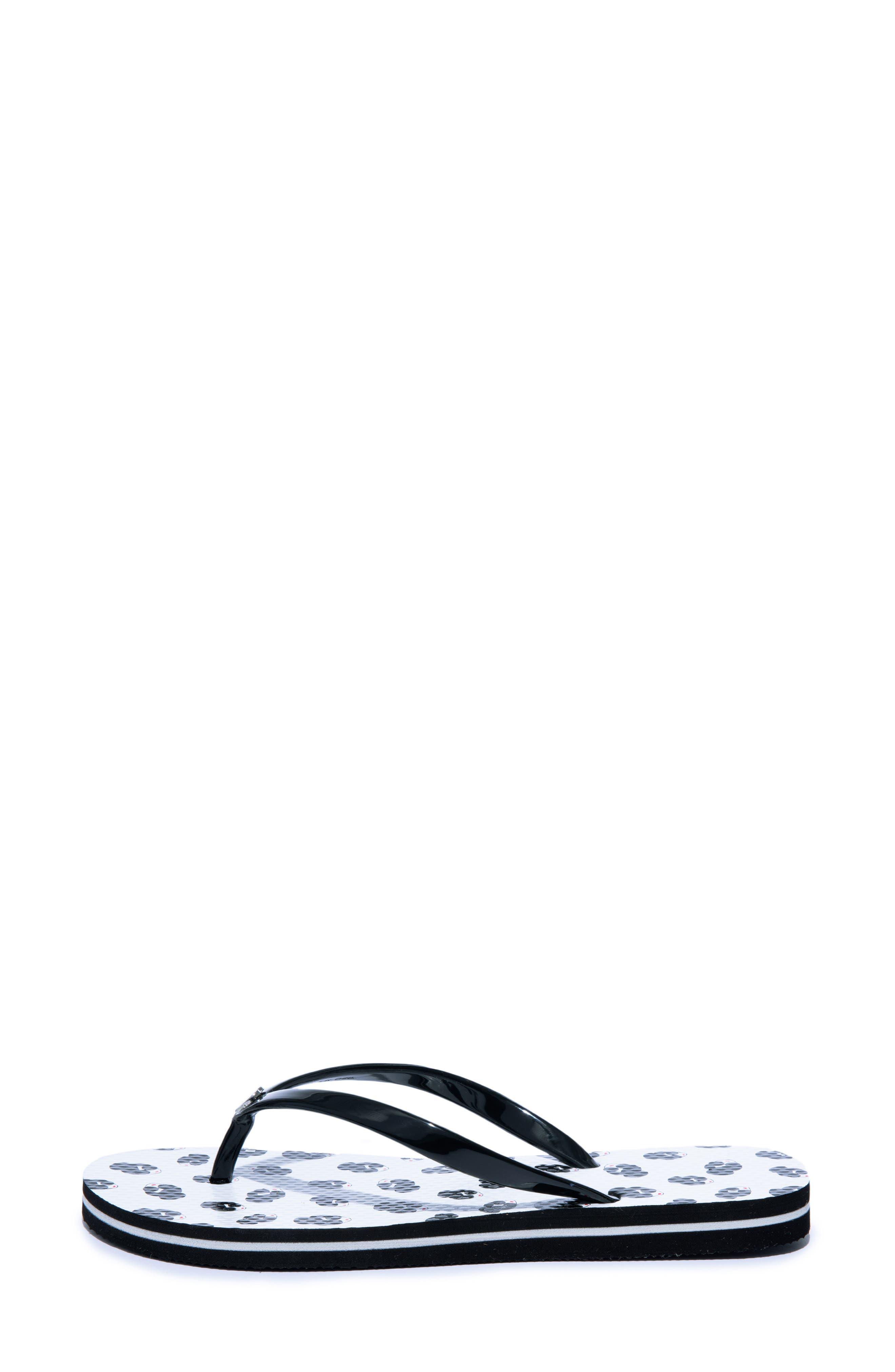 ,                             Eva Flip-Flop,                             Alternate thumbnail 2, color,                             WHITE/ BLACK
