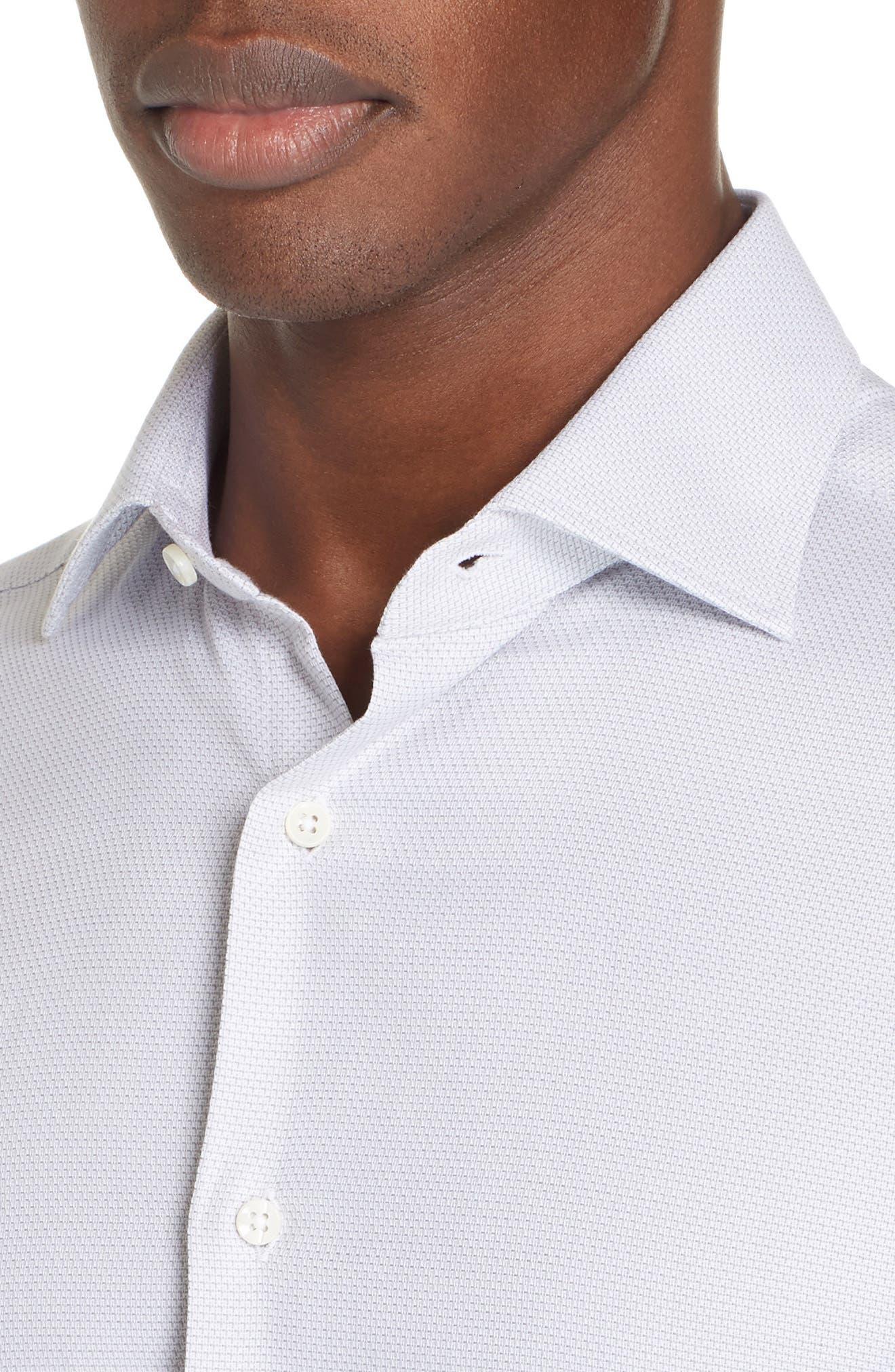 ,                             Regular Fit Solid Dress Shirt,                             Alternate thumbnail 2, color,                             SILVER