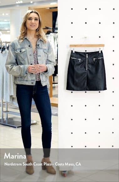 Lennon Faux Leather Miniskirt, sales video thumbnail
