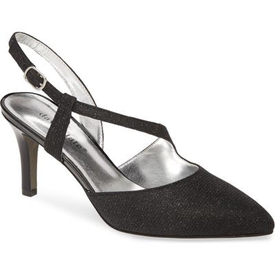 David Tate Lucia Glitter Pump, Black