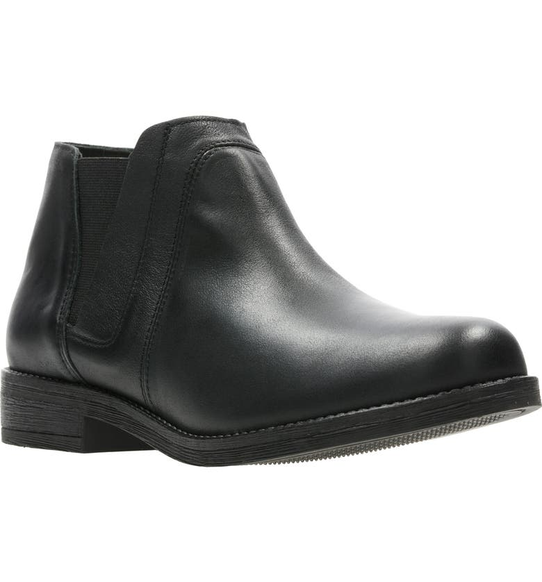 CLARKS<SUP>®</SUP> Demi Beat Chelsea Boot, Main, color, BLACK LEATHER