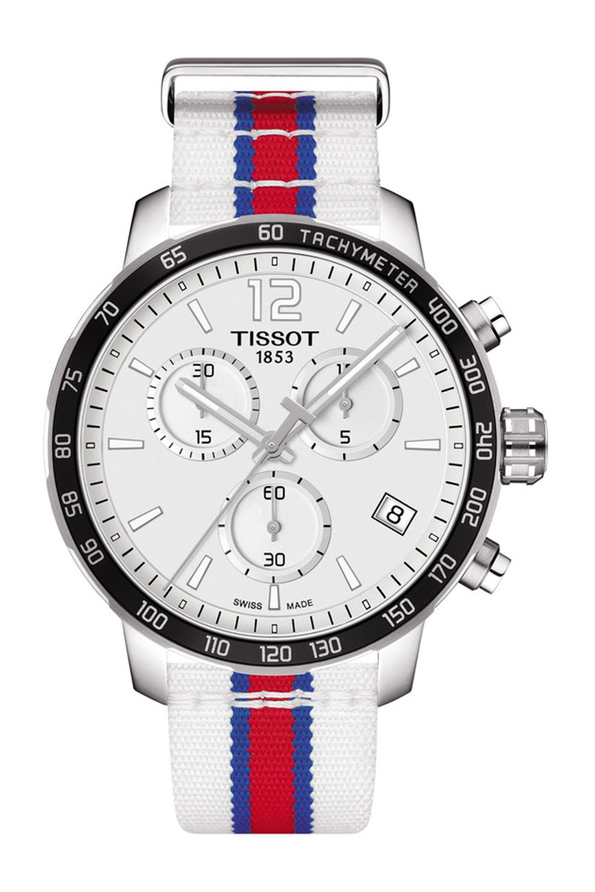 Image of Tissot Men's Quickster Chronograph NBA Los Angeles Clippers Watch, 42mm