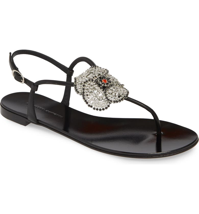 GIUSEPPE ZANOTTI Embellished Sandal, Main, color, 001