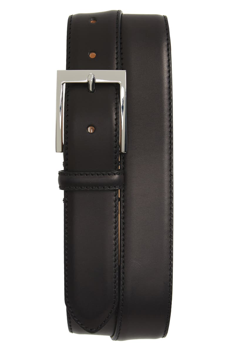 TO BOOT NEW YORK Leather Belt, Main, color, BLACK