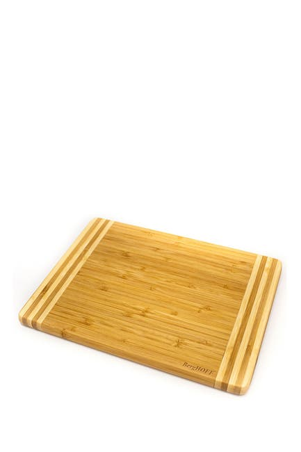 "Image of BergHOFF Bamboo Rectangular Cutting Board - Striped,  10.6x7.7x0.6"""