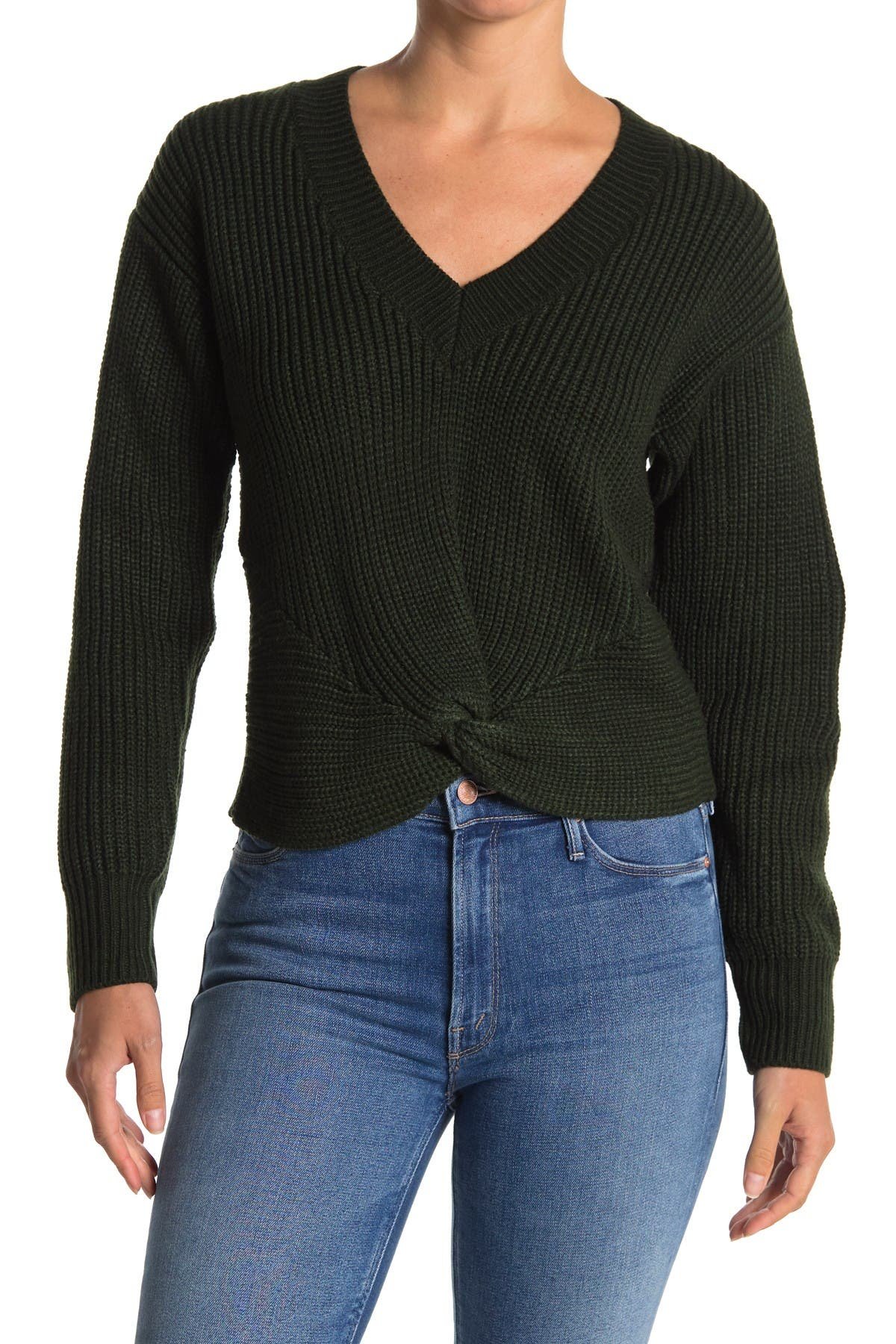 Image of WAYF Varsity Knot Front Sweater