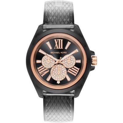 Michael Michael Kors Wren Faux Leather Strap Watch, 42Mm
