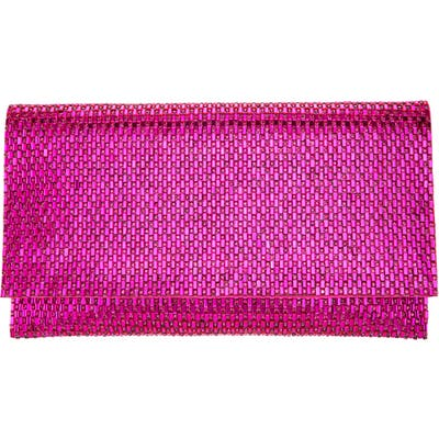 Nina Crystal Beaded Clutch - Purple