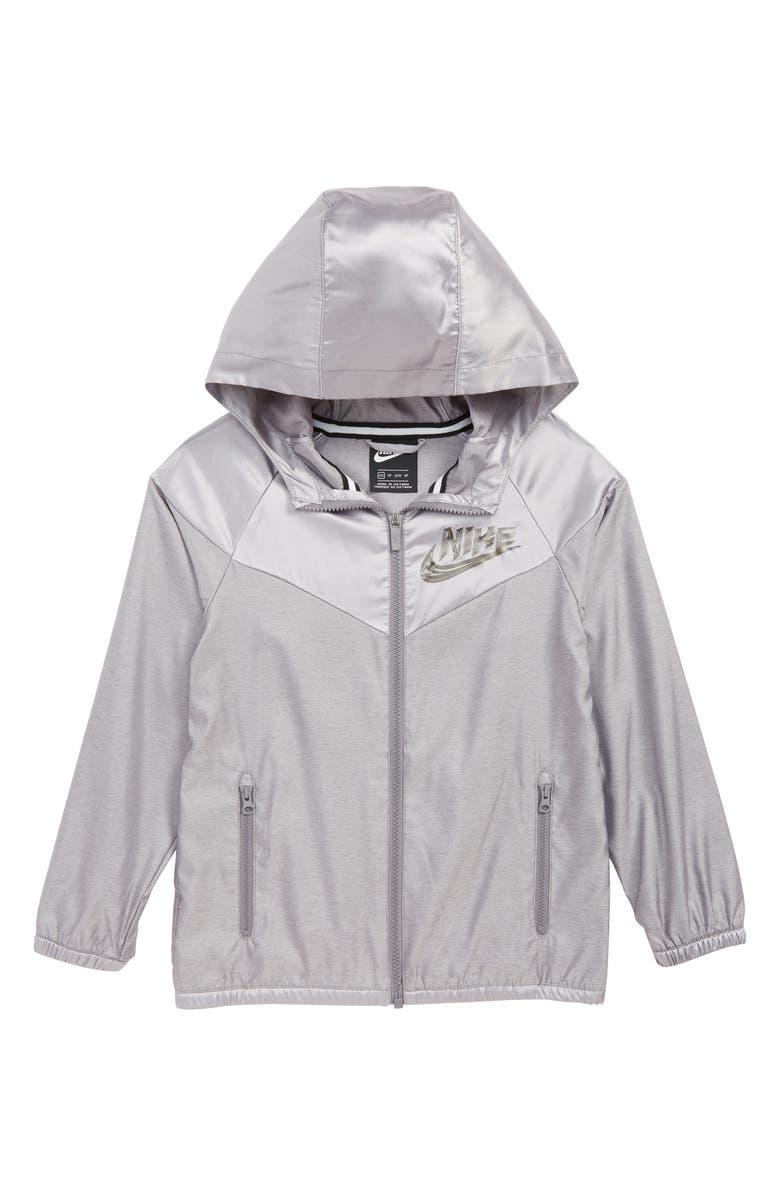NIKE Energy Hooded Jacket, Main, color, GUNSMOKE