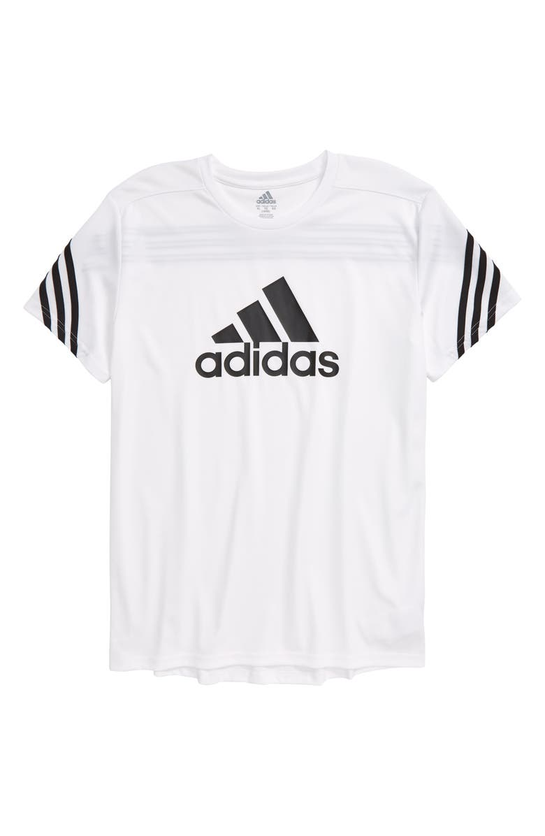 ADIDAS Pack Graphic Tee, Main, color, WHITE