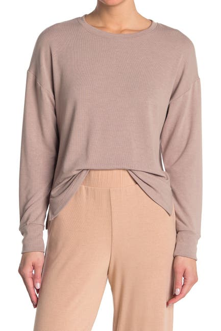 Image of Socialite Brushed Knit Lounge Pullover