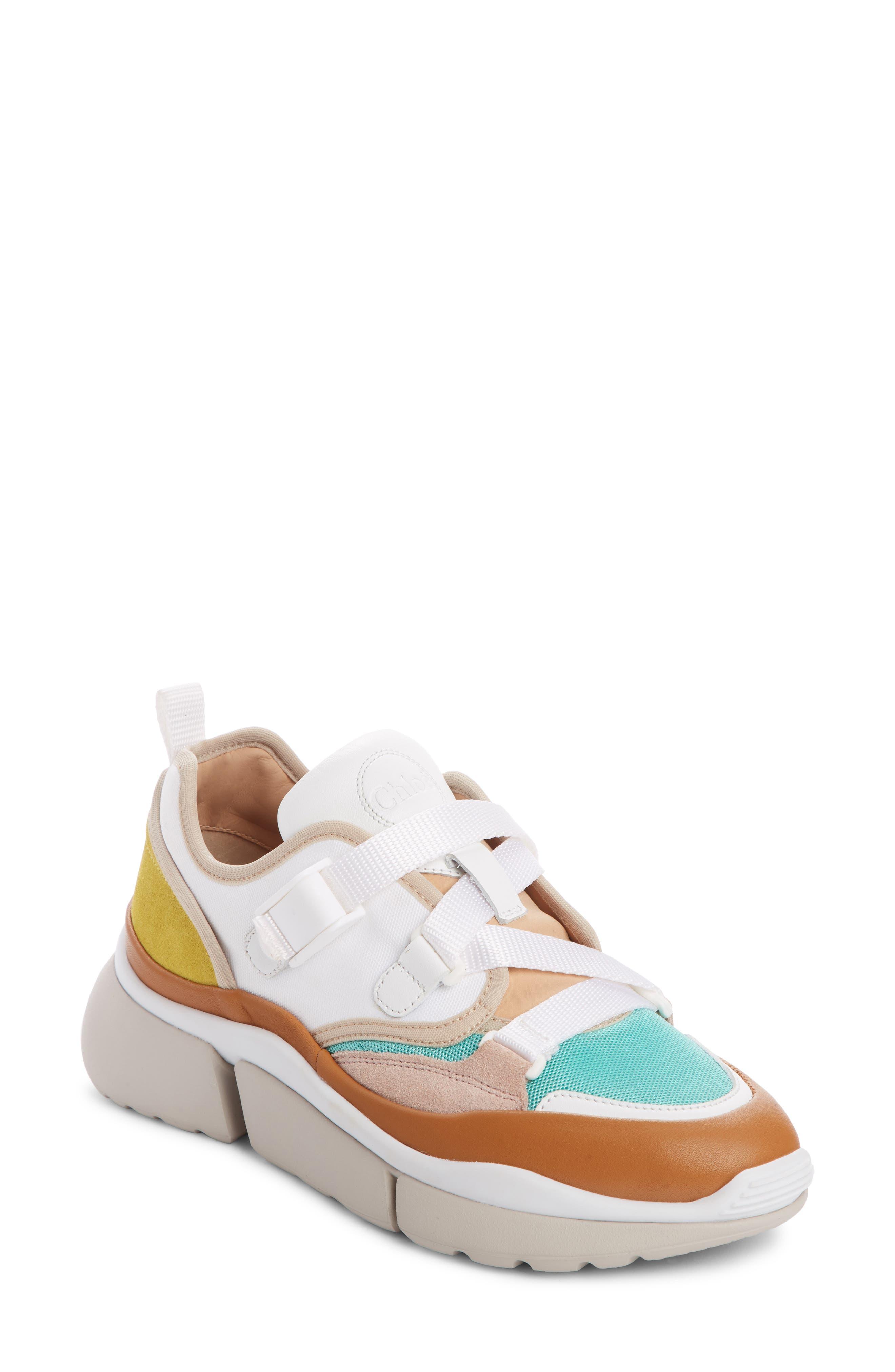 Chloe Sonnie Low Top Sneaker, White